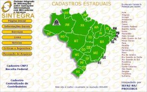 Mapa Sintegra