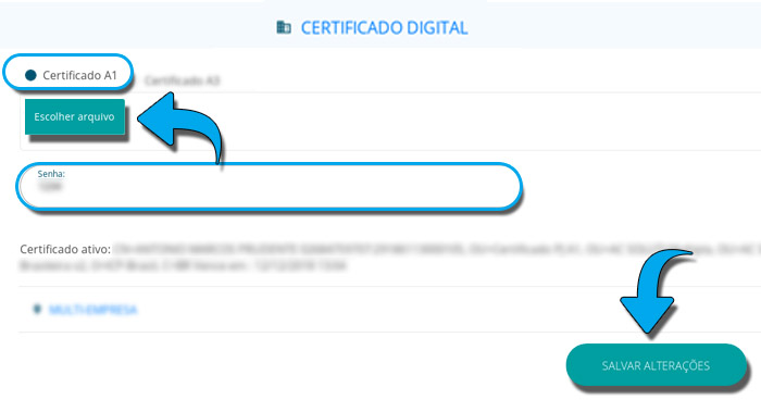 GA Instalar Certificado A1