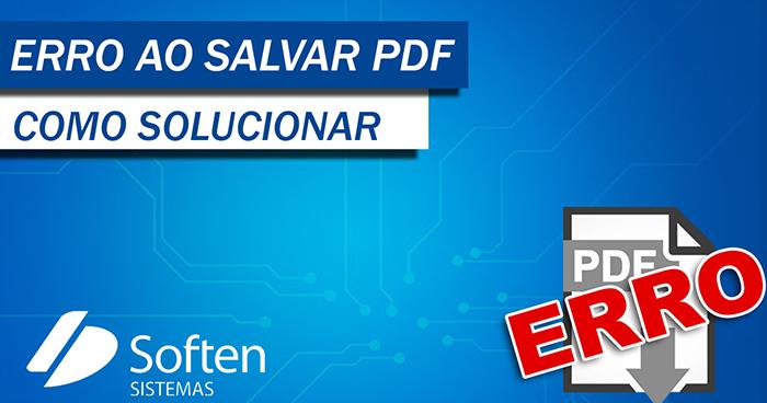 Erro ao Salvar PDF