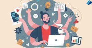 card produtividade no trabalho